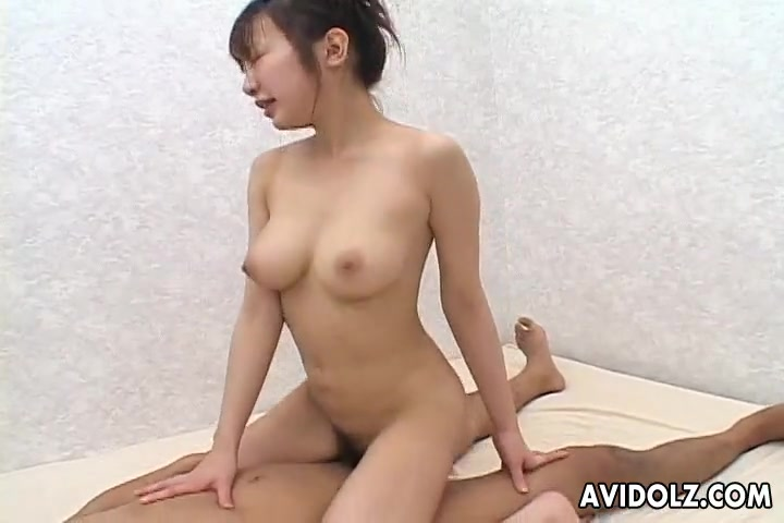 Slippery cunt girl on top grinding on his cock